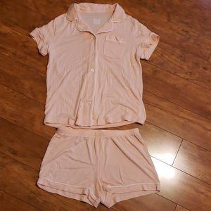 Never worn Light pink/peach pajama set-very soft